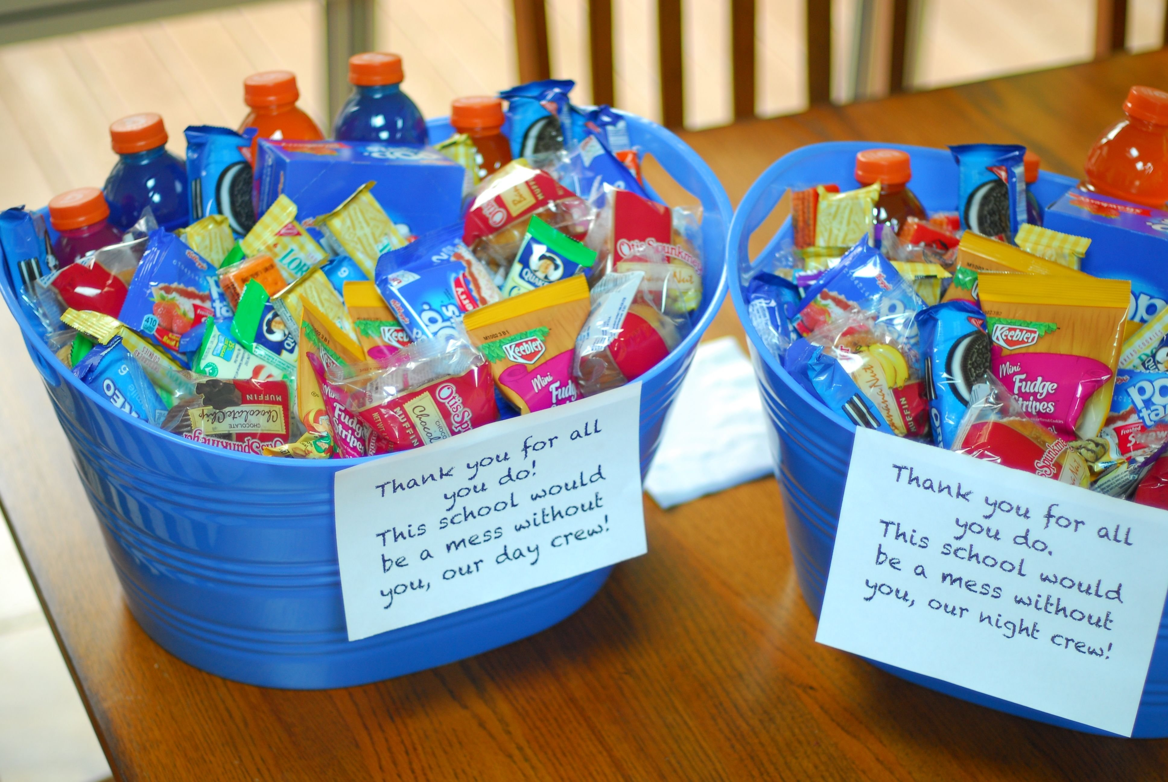 10 Spectacular Ideas For Employee Appreciation Day custodian or janitor appreciation gift teacher gift two tubs one 2