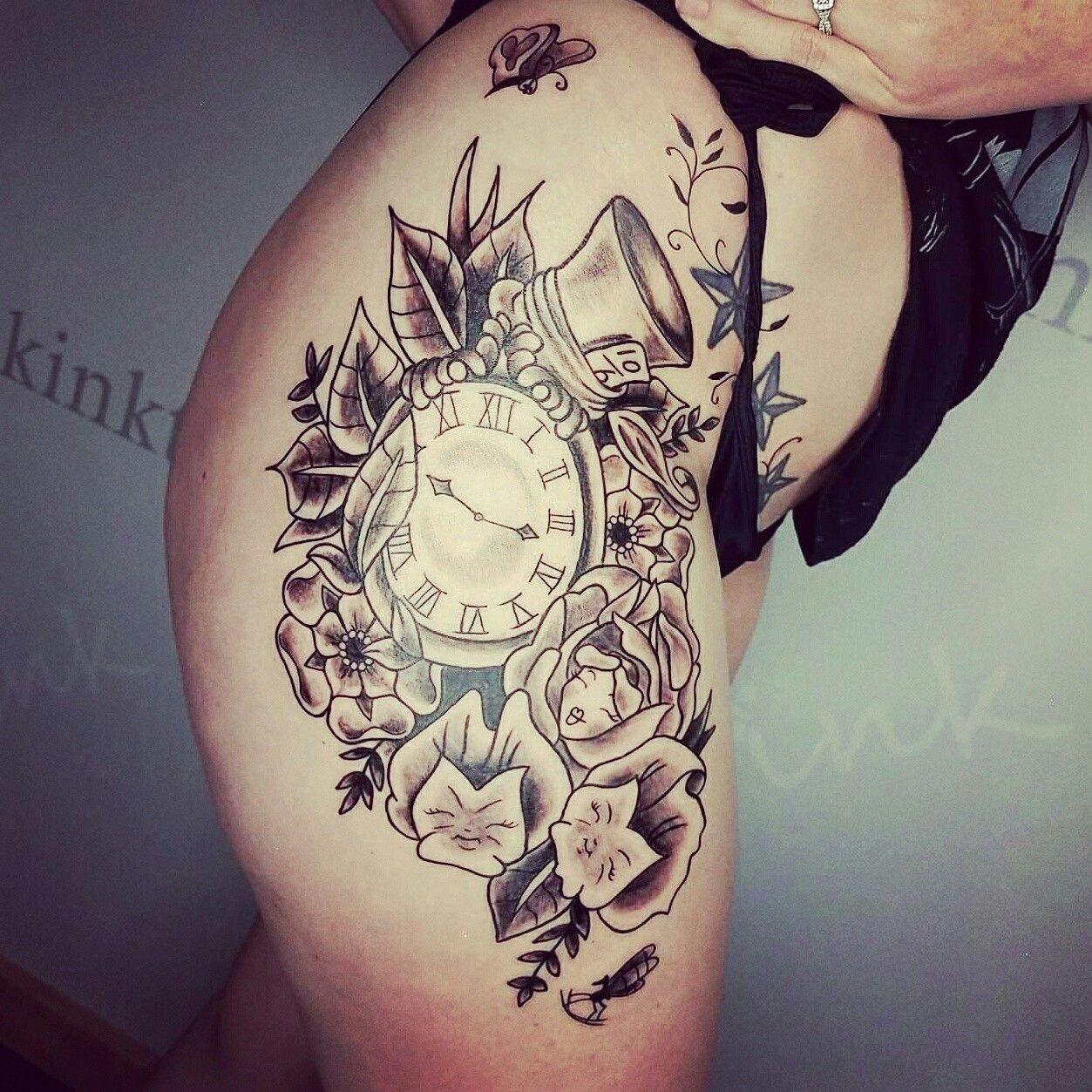 10 Trendy Alice In Wonderland Tattoo Ideas custom black and grey alice in wonderland tattoo tattoos i have 1 2021
