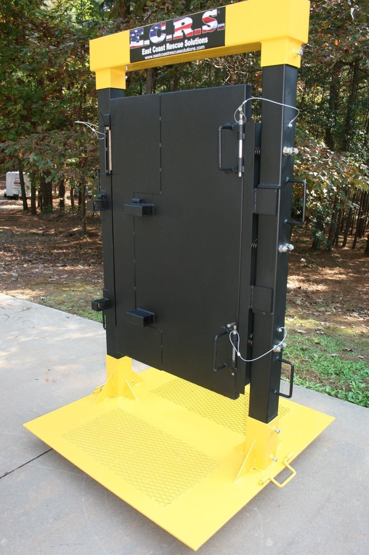 10 Pretty Volunteer Fire Department Training Ideas custom built forcible entry door simulator that allows firefighters 2021