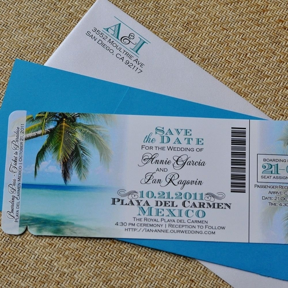 custom design fee - boarding pass invitation or save the date