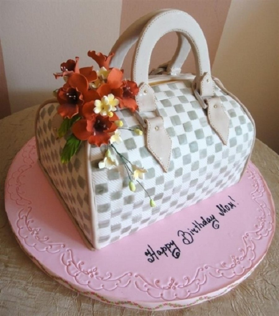 10 Fashionable Birthday Cake Ideas For Mom custom purse birthday cake for mom cakecentral