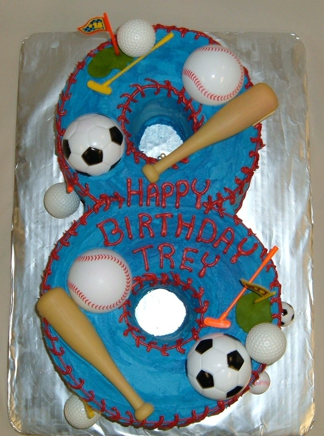 10 Most Popular Boys 8Th Birthday Party Ideas custom shaped numeral sports cake happy 8th birthday trey custom 2020