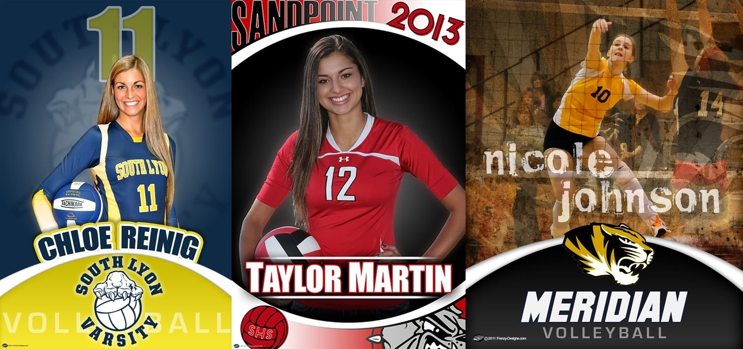 10 Spectacular Senior Gift Ideas For Sports custom volleyball gift ideas custom sports posters personalized 2020