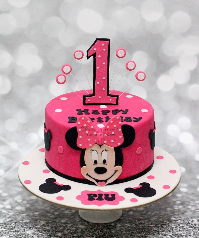 10 Ideal Minnie Mouse Birthday Cake Ideas customised cakes for girls the best in mumbai and pune