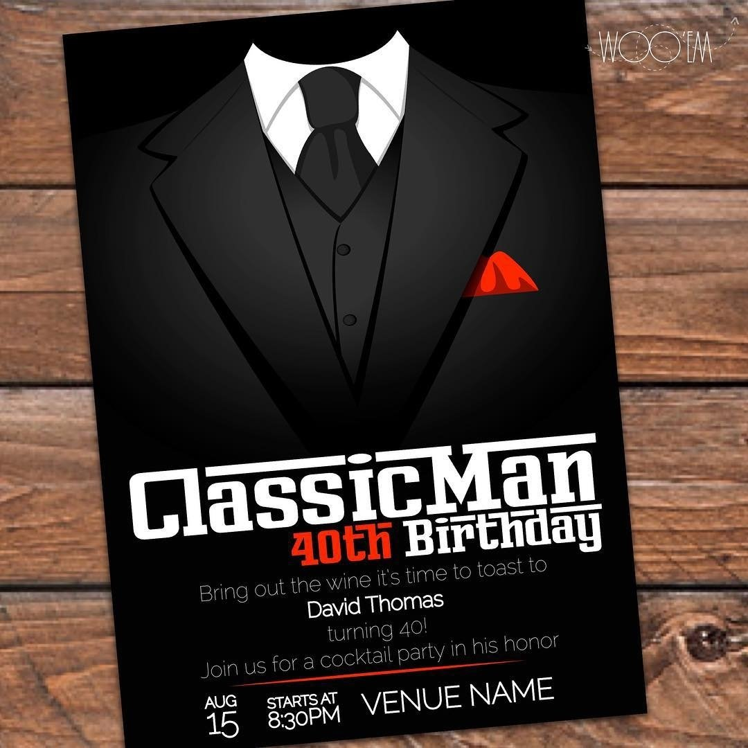 10 Lovely Pinterest 40Th Birthday Party Ideas customize this invitation for that classic man 40thbirthday 2020