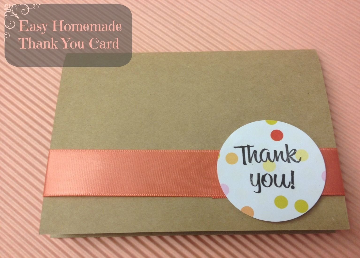 cute and easy kraft thank you card tutorial | diy: cards | pinterest