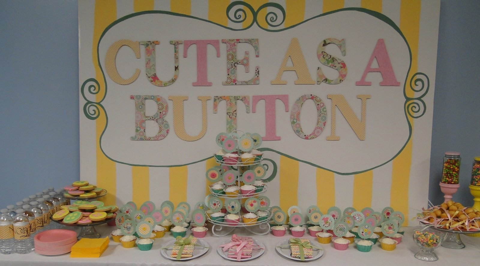 cute as a button baby shower invitations | free invitation ideas