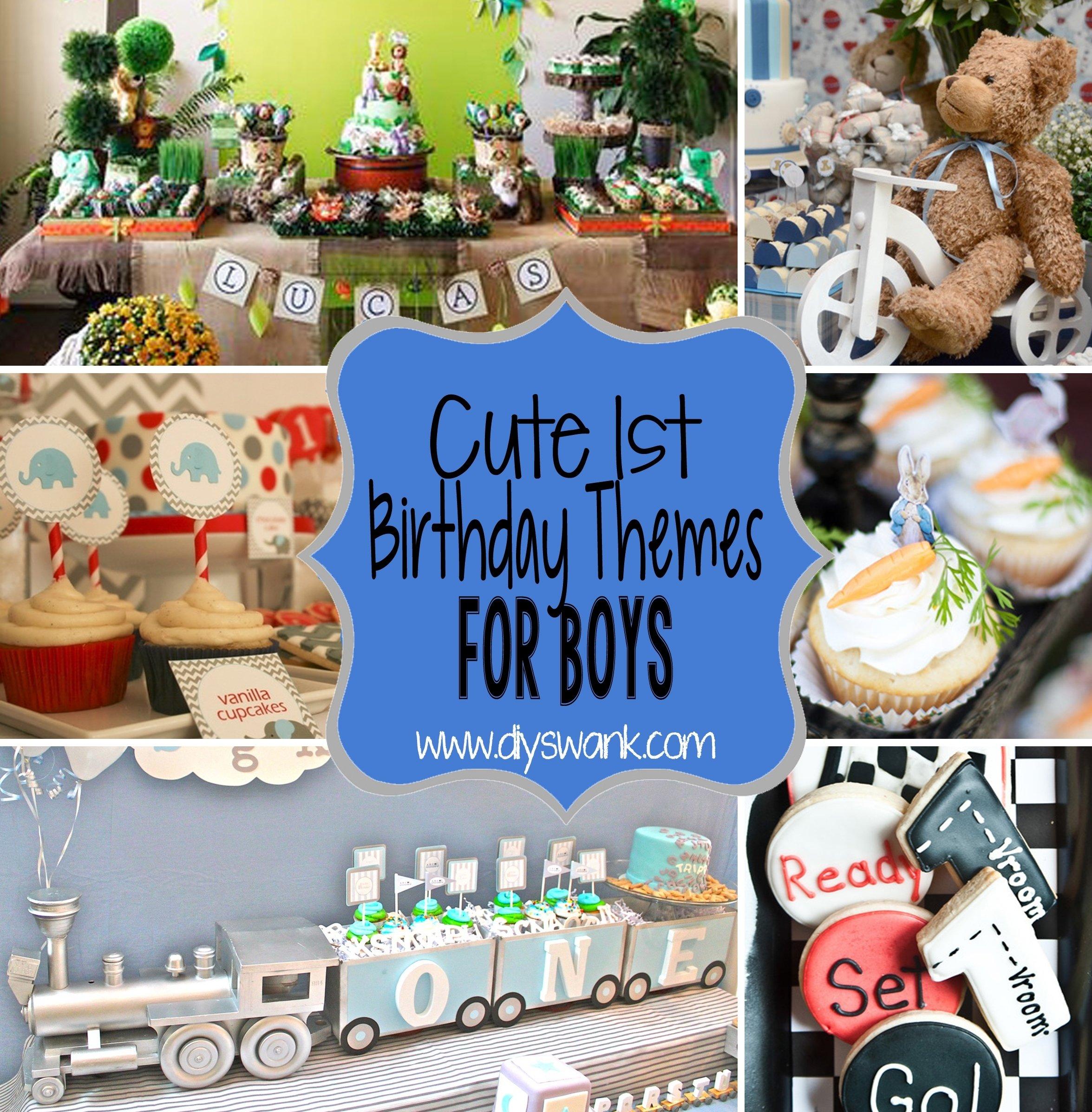 10 Stunning 1St Birthday Party Ideas For Boys cute boy 1st birthday party themes 19 2020