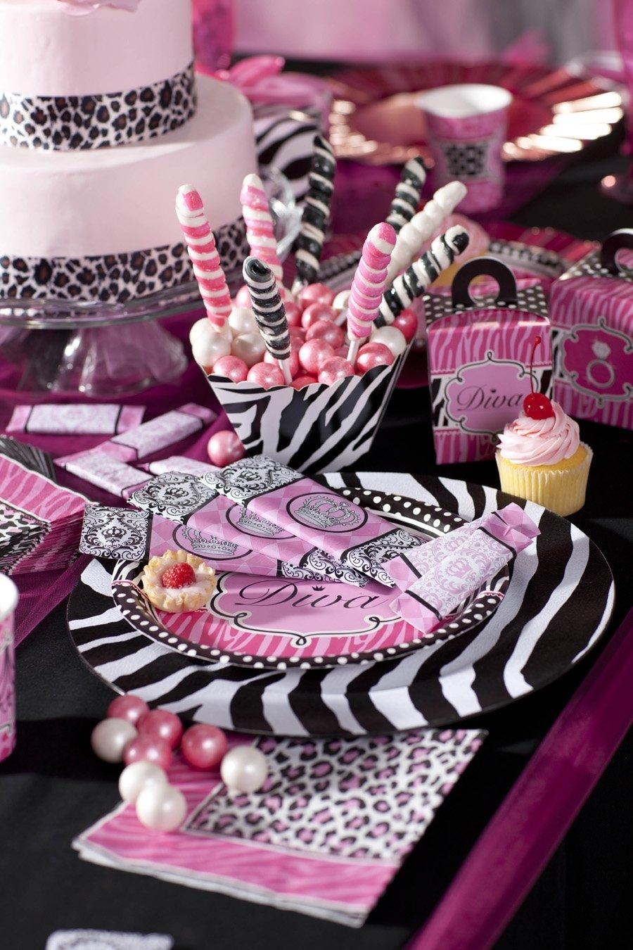 10 Spectacular Zebra Print Party Decoration Ideas cute diva zebra print birthday favors party birthdayexpress 1 2021