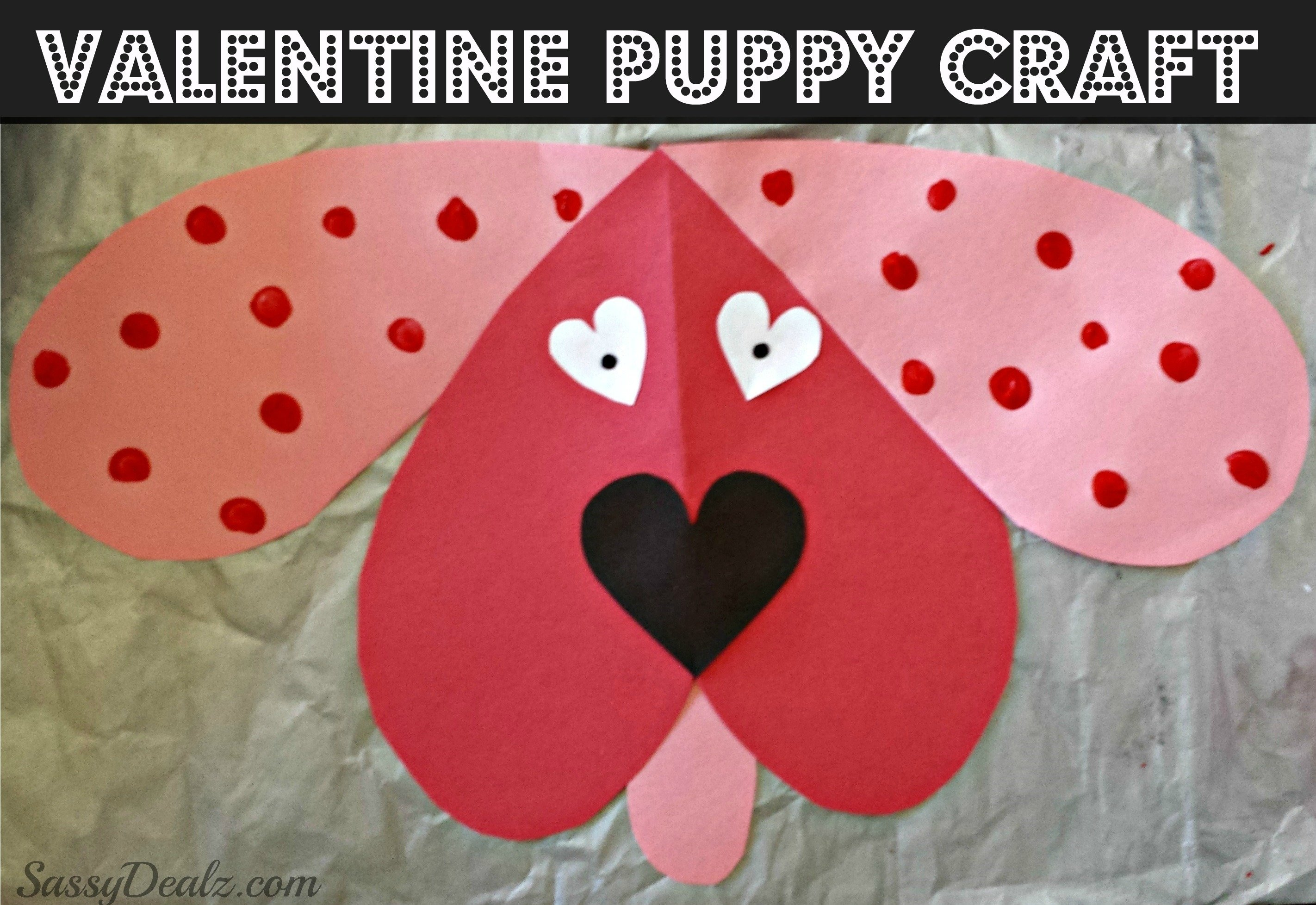 10 Attractive Craft Ideas For Valentines Day cute dog valentines day craft for kids crafty morning 1 2020