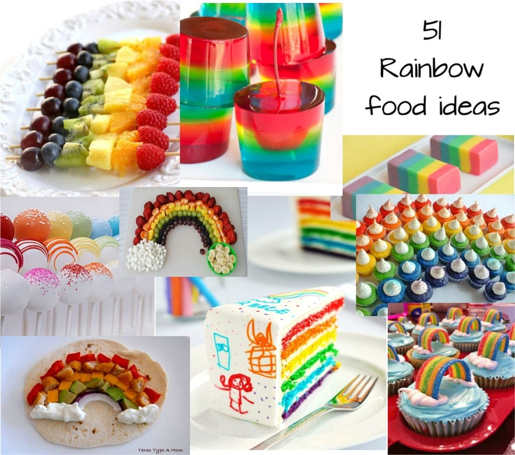 10 Famous Food Ideas For A Party cute food for kids 51 rainbow food ideas for st patricks day or