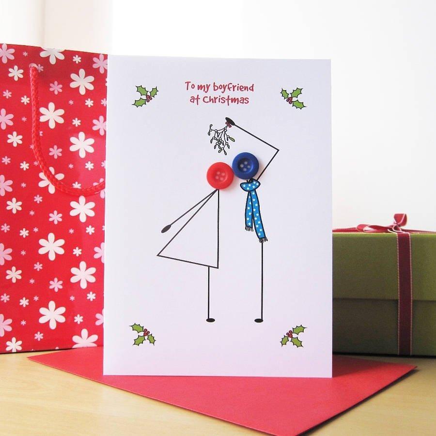 10 Unique Cute Card Ideas For Boyfriend cute funny christmas card for boyfriend with couple button hadncraft 2020