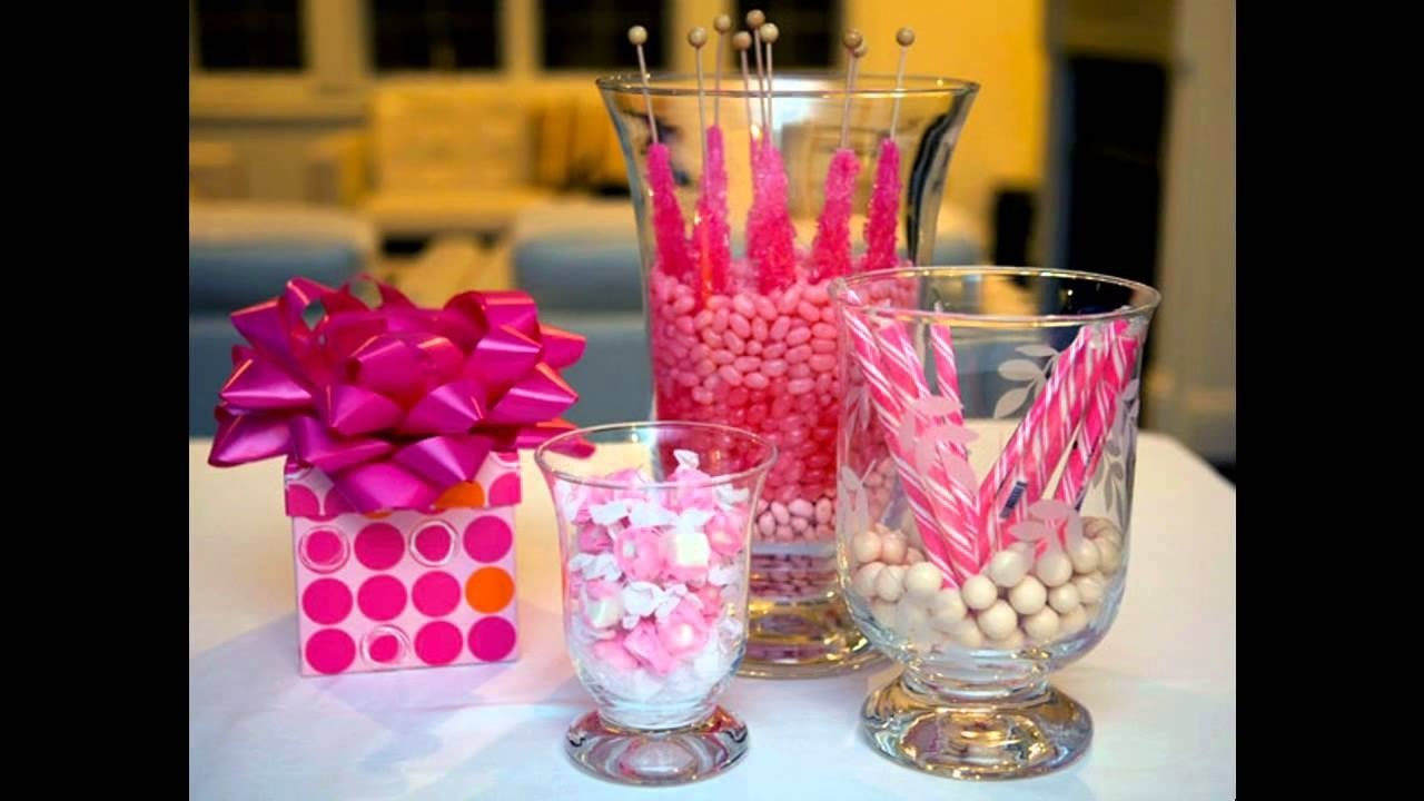 cute girl baby shower centerpiece ideas - youtube