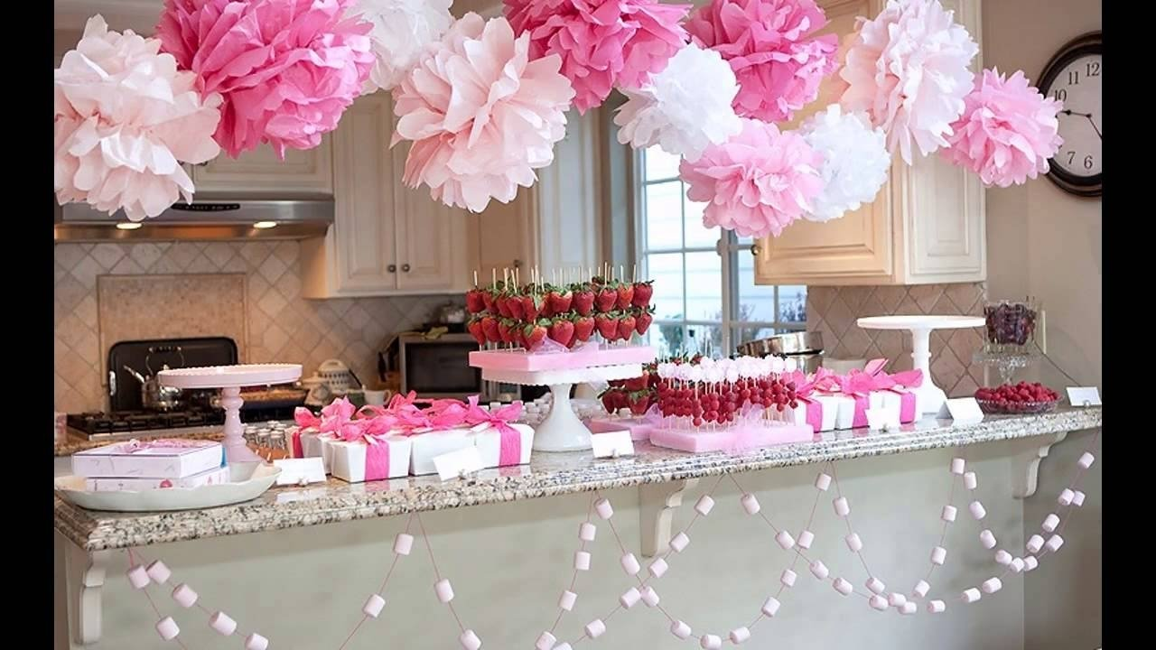 10 Unique Girl Baby Shower Decorating Ideas cute girl baby shower decorations youtube 2020