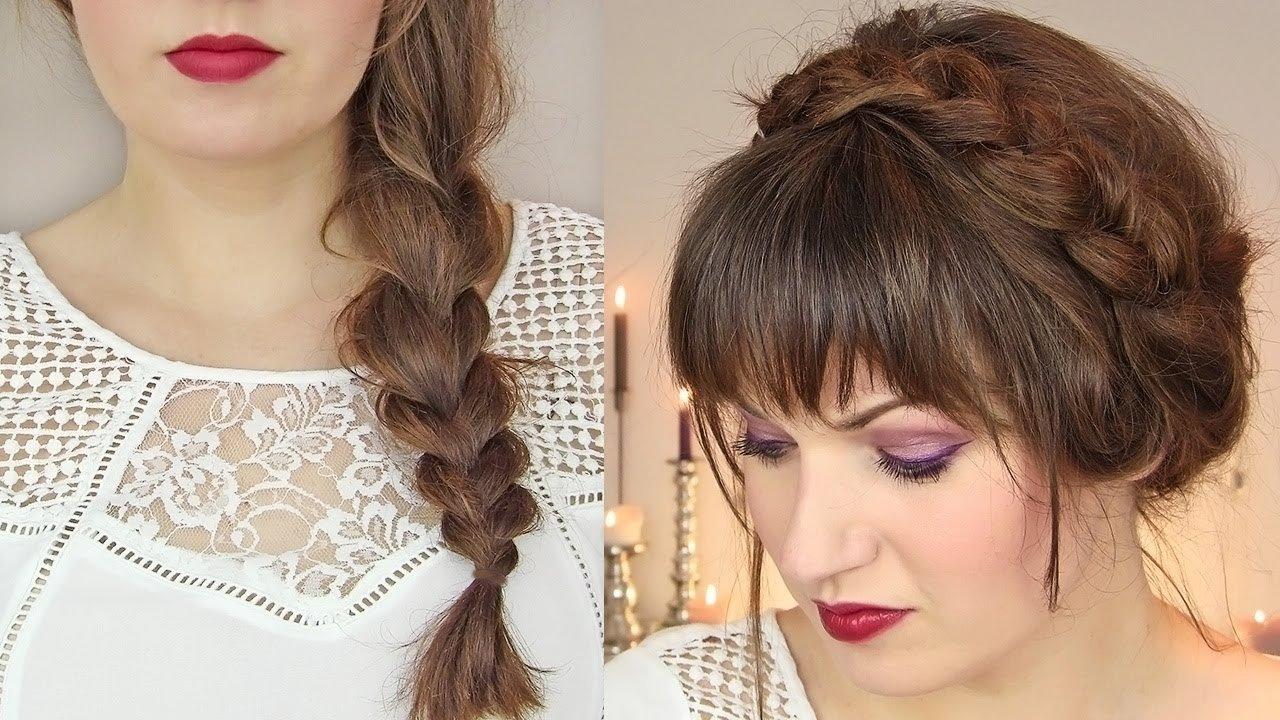 10 Lovely Hair Ideas For Thin Hair cute hairstyles for thin hair thick braid milkmaid updo youtube 2020
