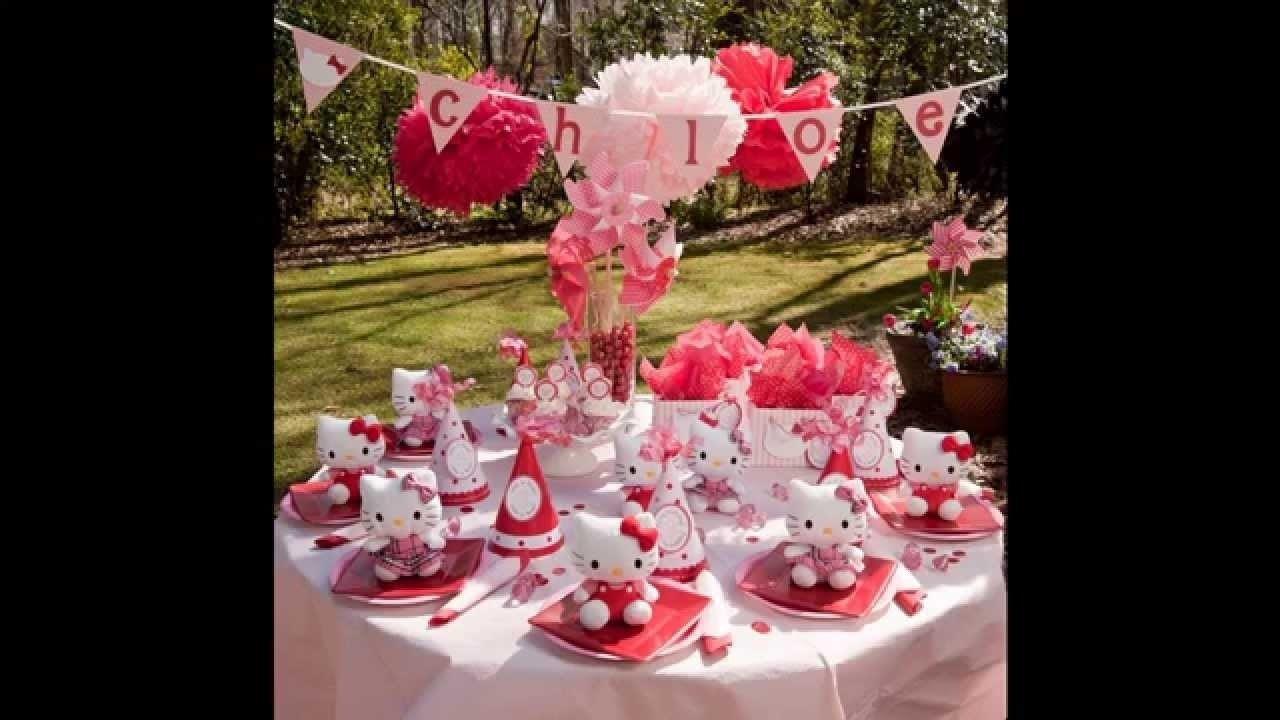 cute hello kitty themed baby shower ideas - youtube