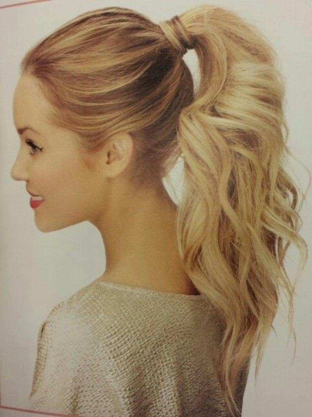 10 Fantastic Cute Ponytail Ideas For Medium Hair cute high ponytail hairstyles women hair libs 2020