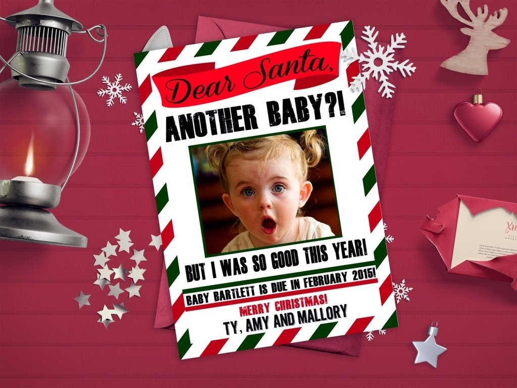 10 Nice Funny Christmas Card Photo Ideas For Kids cute holiday pregnancy announcement ideas popsugar moms 2021