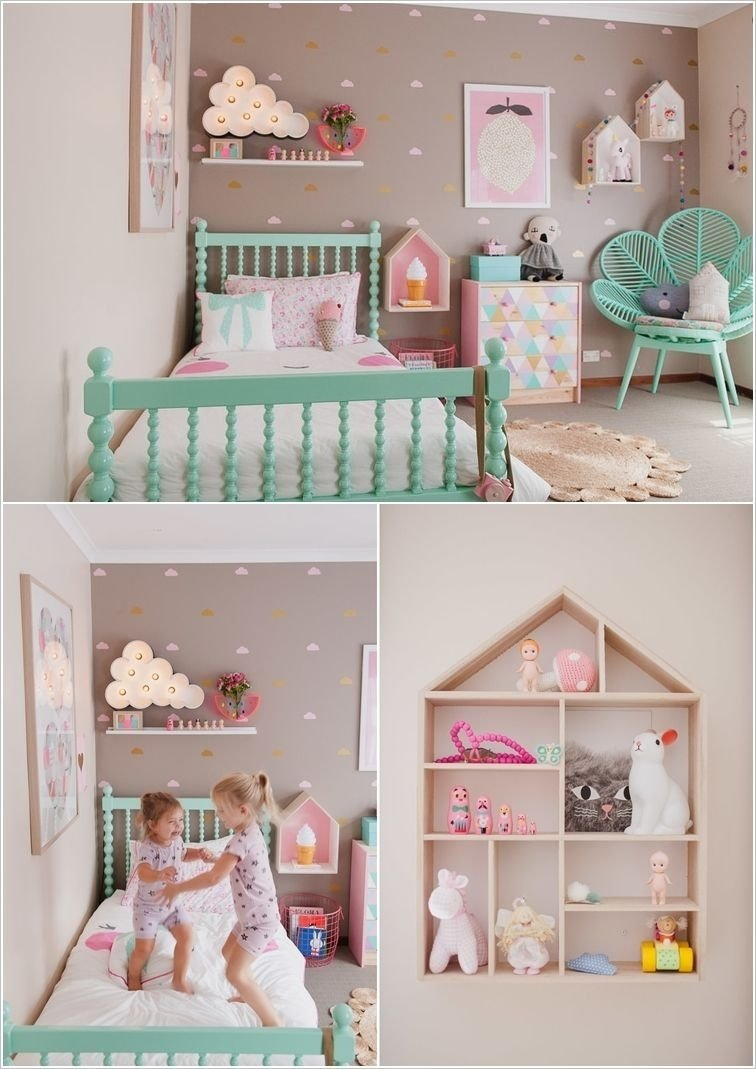 cute ideas to decorate a toddler girl's room | toddler girls