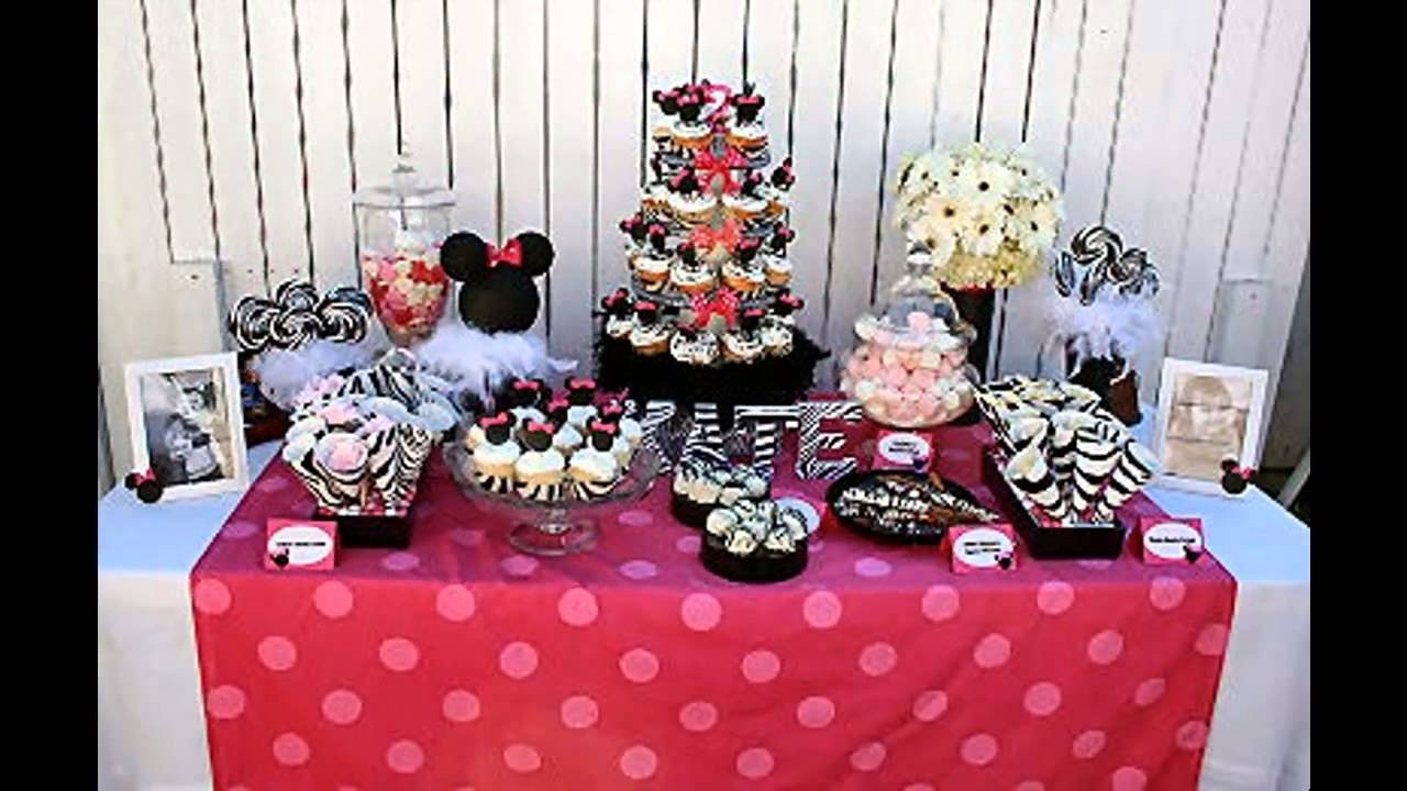 10 Great Party Favor Ideas For 1St Birthday cute minnie mouse 1st birthday party decorations ideas youtube 2