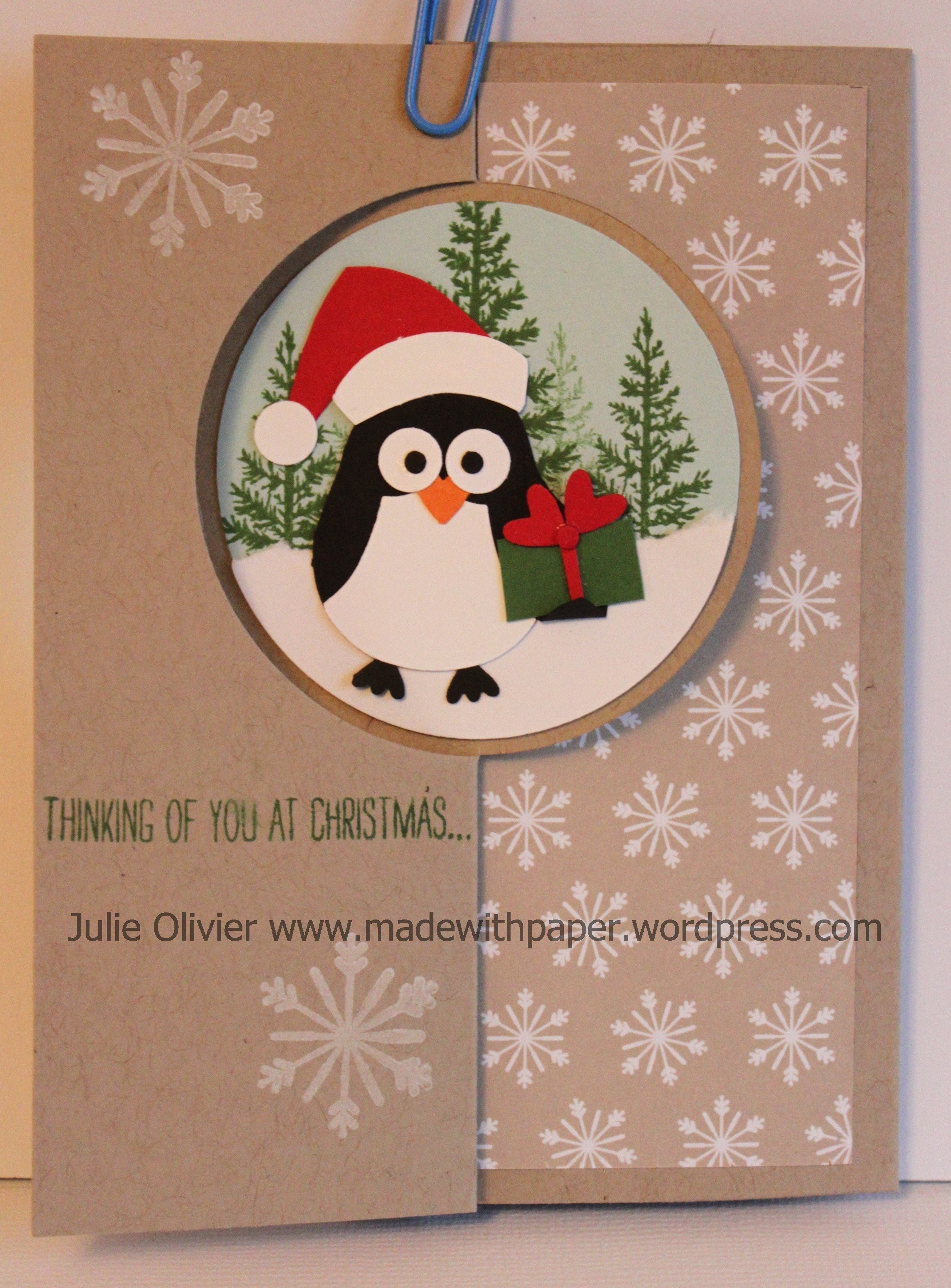 10 Elegant Stampin Up Owl Punch Ideas cute penguin flip card made with paper 2020