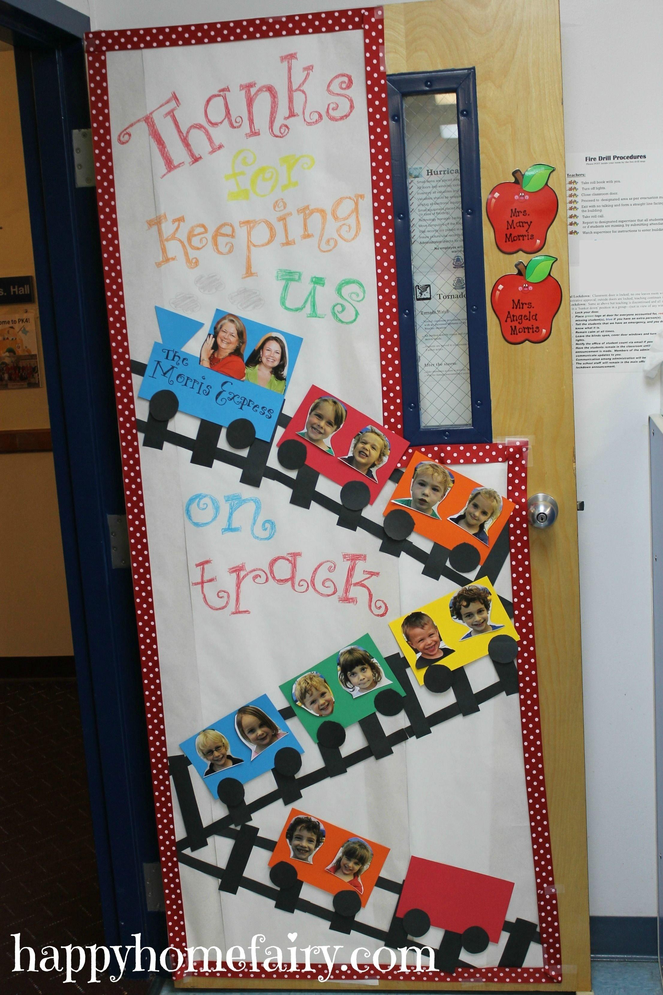 cute teacher appreciation door idea | classroom door decorations