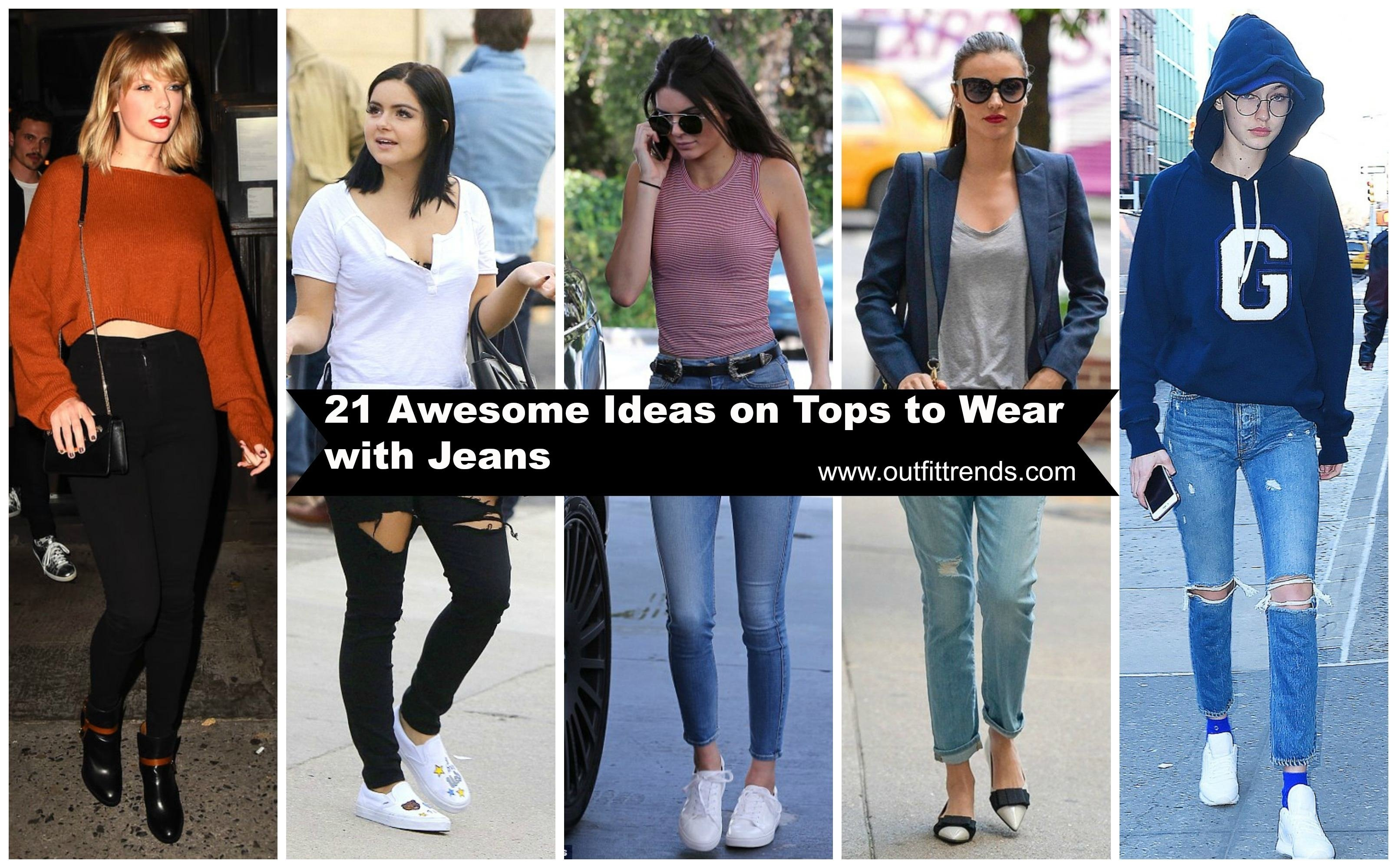 10 Cute Cute Outfit Ideas With Jeans cute tops to wear with jeans 21 jeans tops outfit ideas 2020