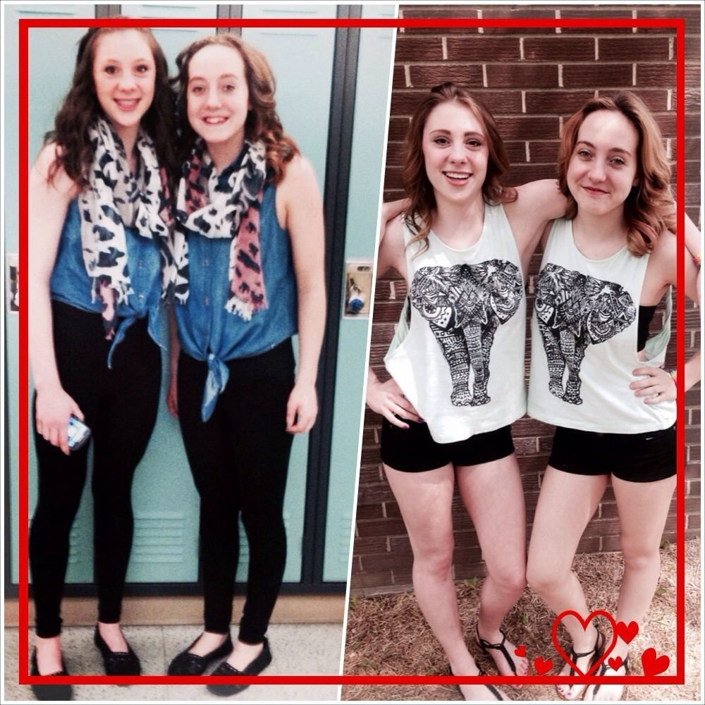 10 Pretty Cute Ideas For Twin Day At School cute twin day outfits for girls school pinterest twins and 1