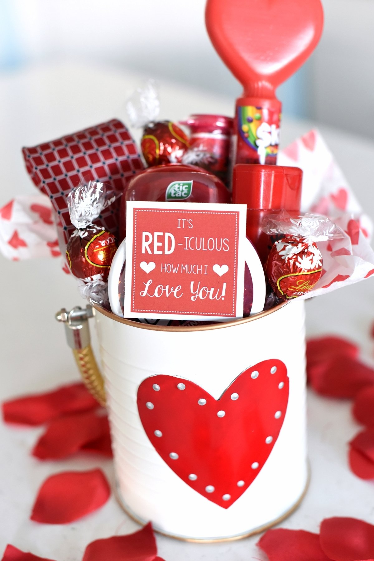 10 Great Valentine Day Ideas For Husband cute valentines day gift idea red iculous basket 7 2020