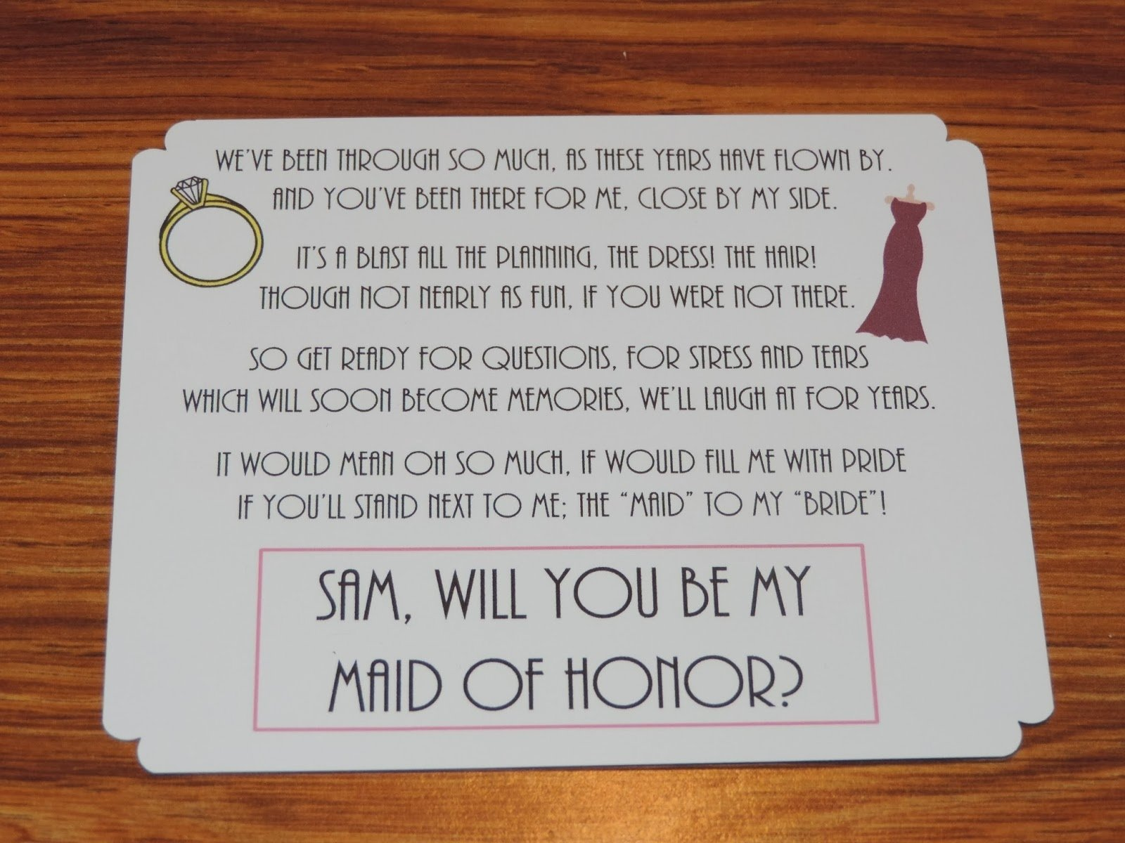 10 Fantastic Asking Maid Of Honor Ideas cute way to invite someone to be your bridesmaids maid of honor 2020