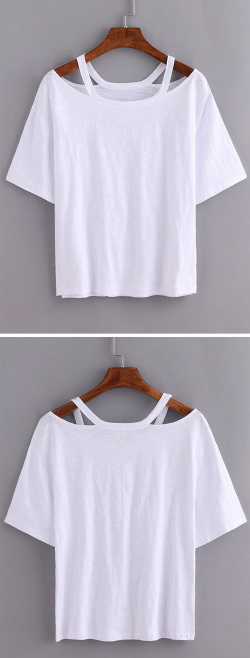 cutout loose-fit white t-shirt with <3 from jdzigner www.jdzigner