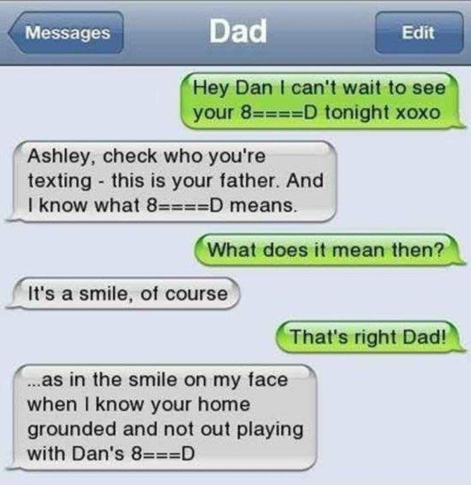 10 Nice Dirty Text Message Ideas For Girlfriend dad aint dumb funny stuff pinterest dads funny texts and humor 2020