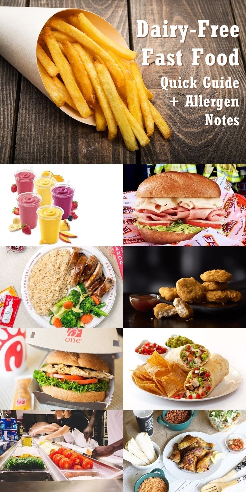 10 Lovable Gluten Free Fast Food Ideas dairy free fast food quick guide with allergen notes 2020