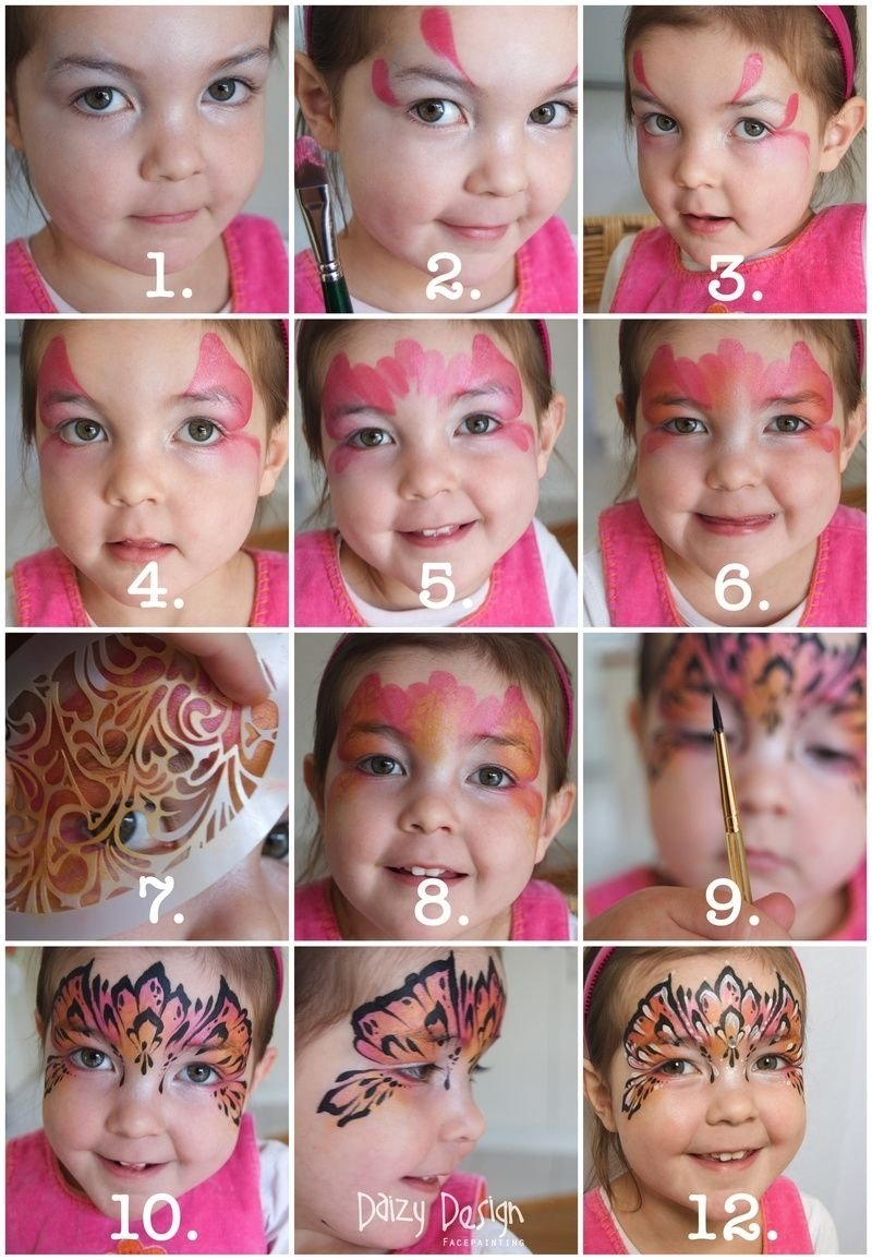 daizy design face painting - princess mask stepstep. i love