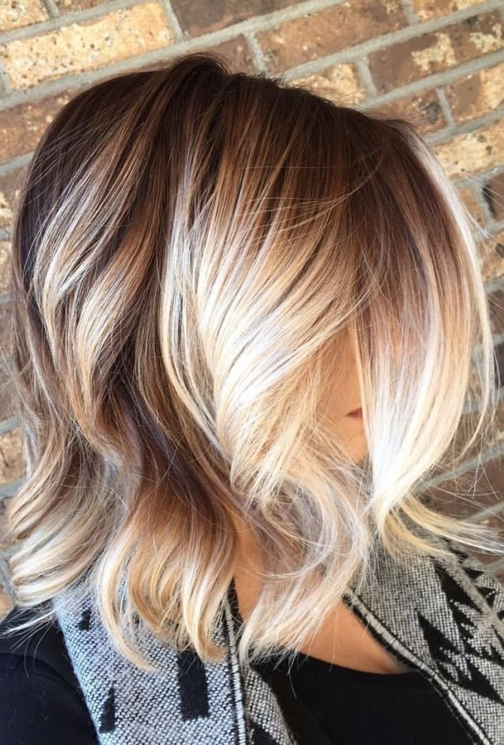 dark blonde ombre hair color trending balayage back view simple