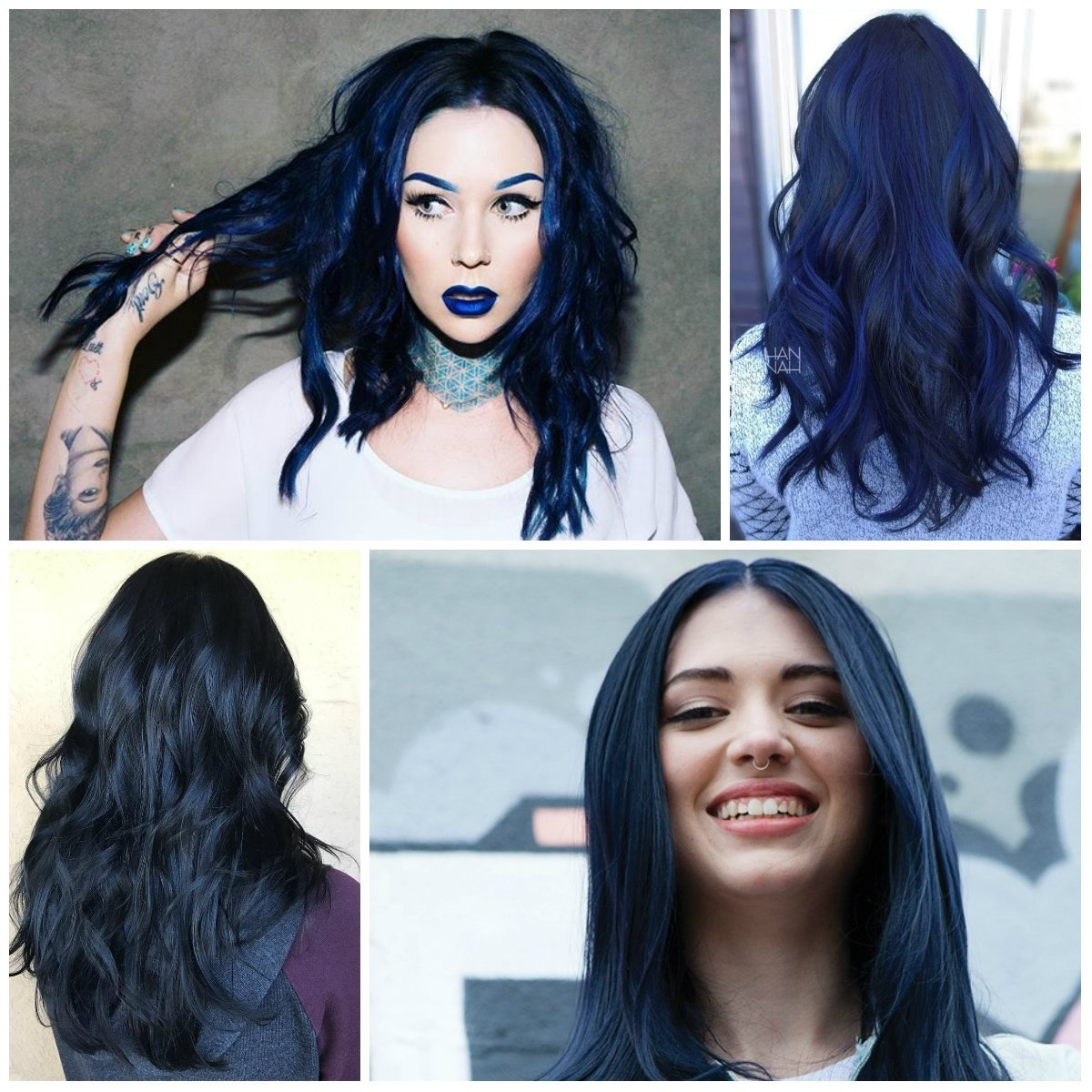 10 Great Blue And Black Hair Color Ideas dark blue black hair colors for 2017 best hair color ideas 2020