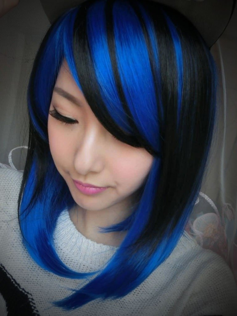 10 Great Blue And Black Hair Color Ideas dark blue hair color ideas for 2017 best hair color trends 2017 2020