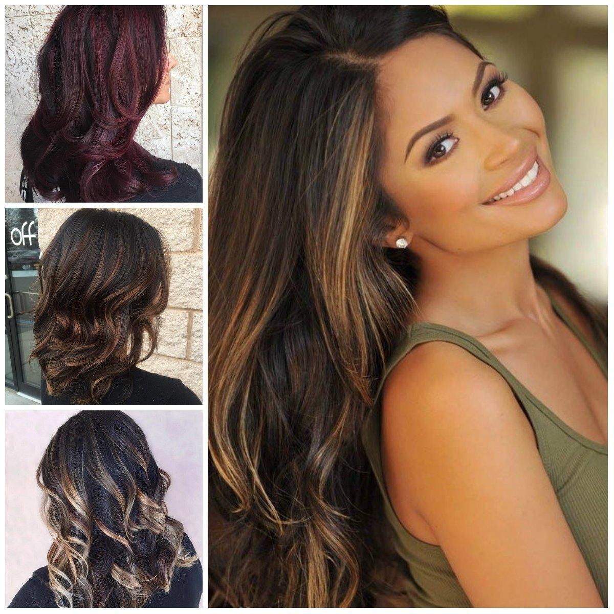 10 Stunning Highlight Ideas For Dark Brown Hair dark brown hair color with highlights for 2017 best hair color 4 2021