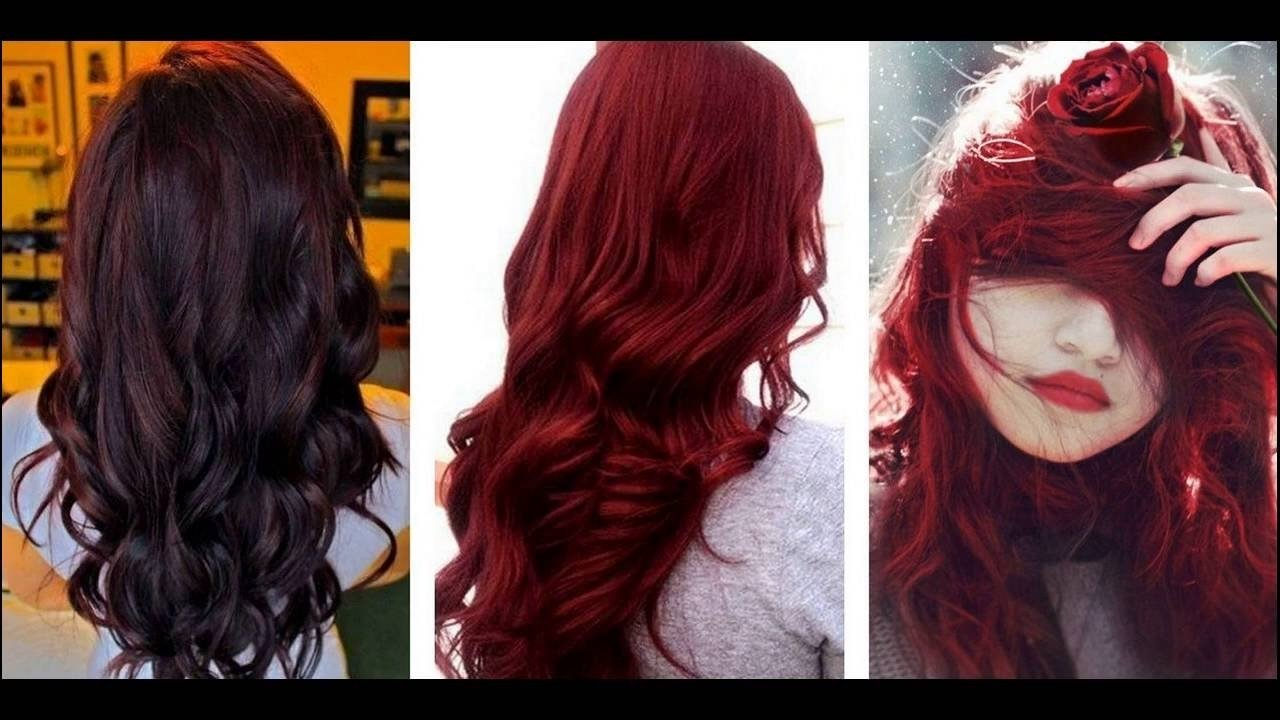 10 Amazing Dark Red Hair Color Ideas dark cherry hair color ideas for dark skin youtube 1 2021