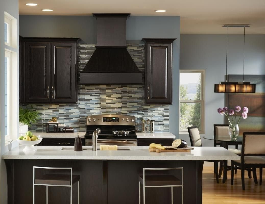 dark kitchen cabinets as a legend kitchen design - http://www