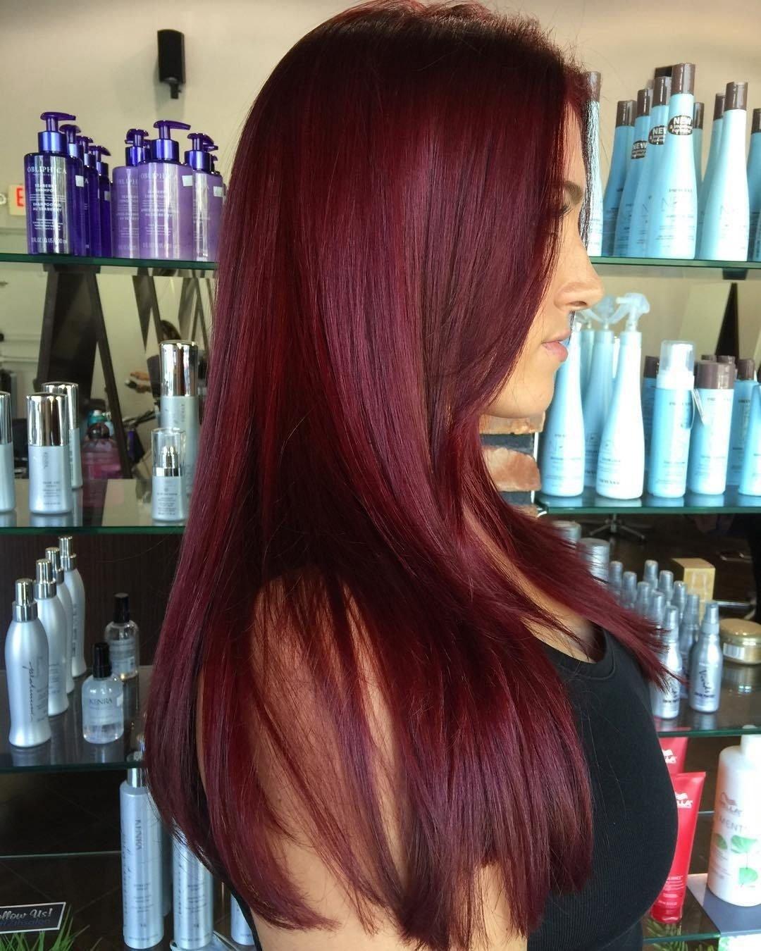 10 Spectacular Brown Red Hair Color Ideas dark red violet hair color best hair color for brown green eyes 2020