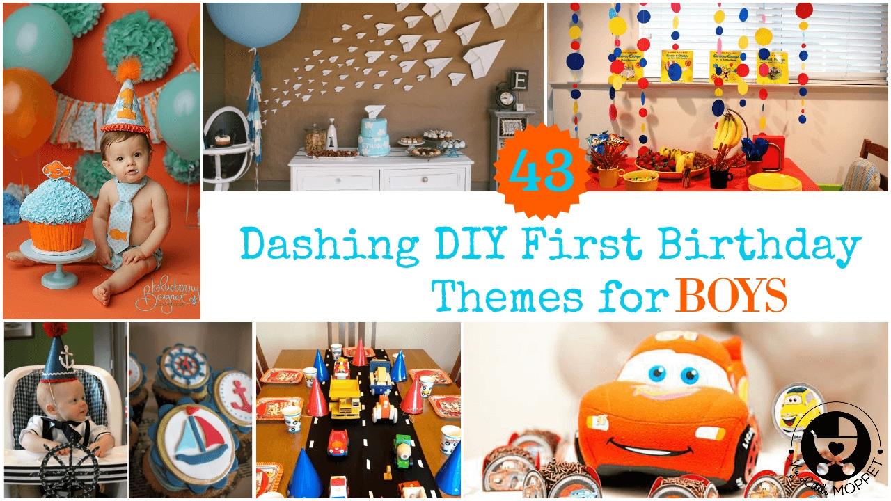 10 Stunning 1St Birthday Ideas For Boys dashing diy boy first birthday themes 2021