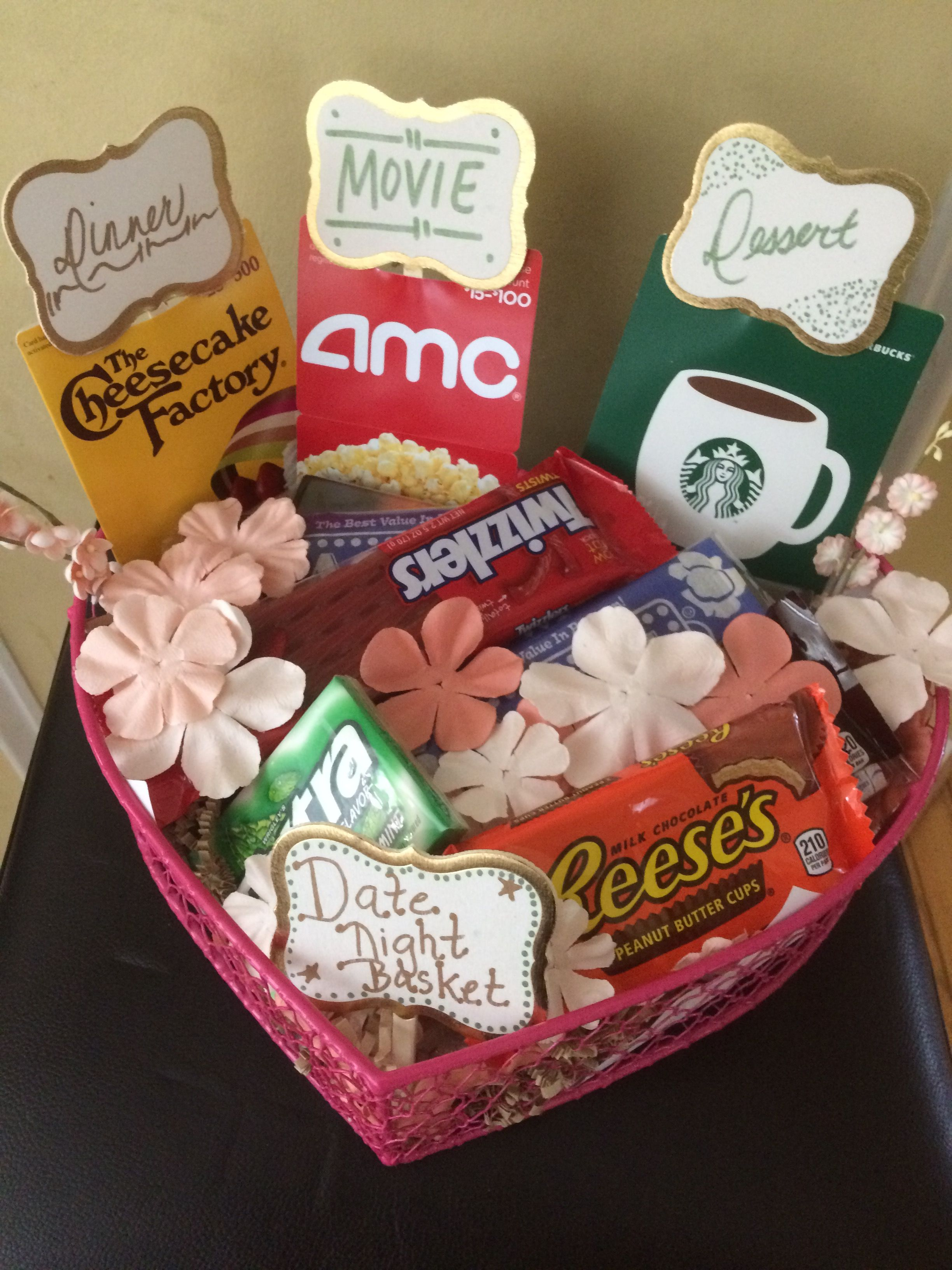 10 Perfect Unique Bridal Shower Gift Ideas For Bride date night basket for bride to be wedding shower gift diy crafts 2020