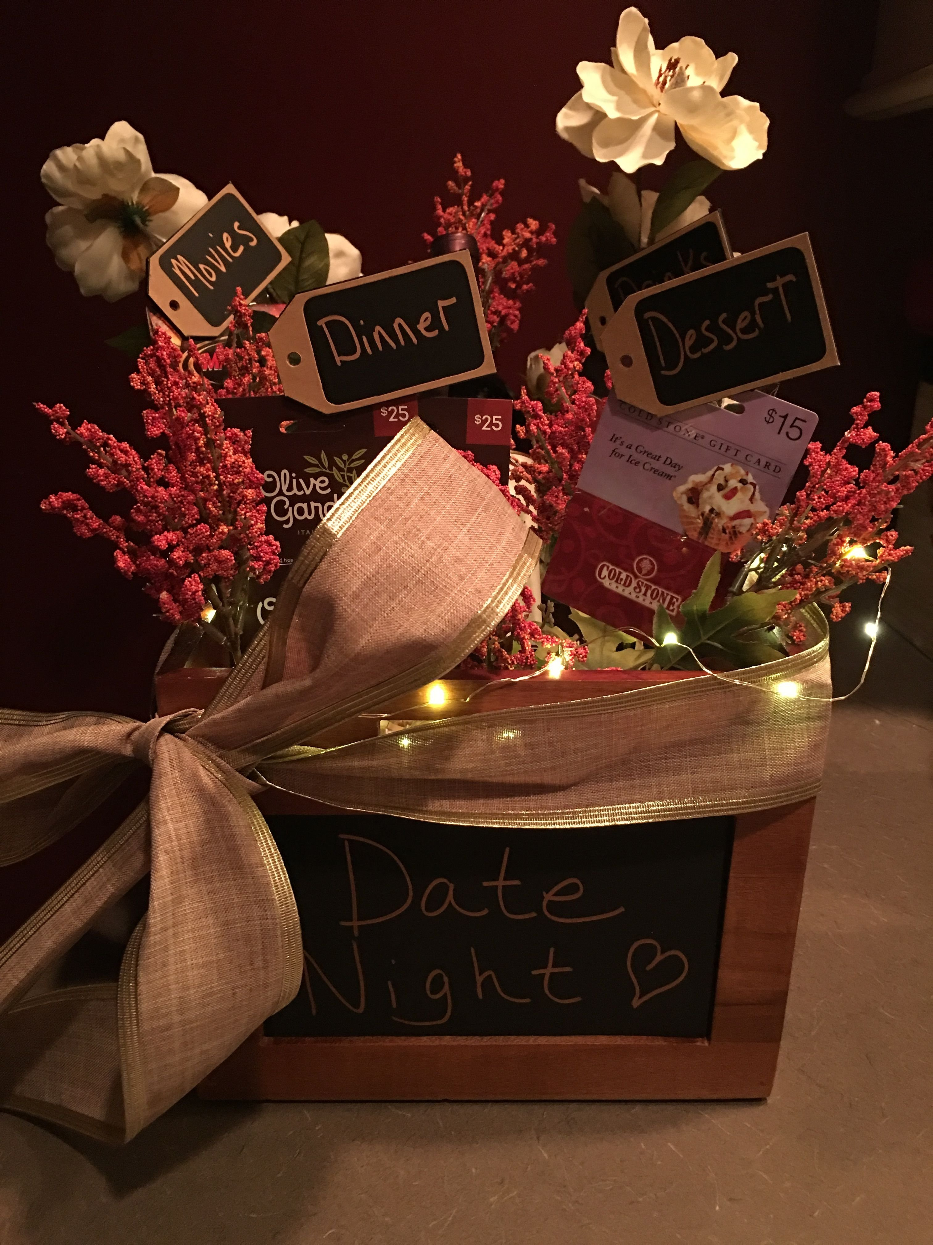 10 Trendy Gift Basket Ideas For Couples date night gift basket crafty pinterest gift basket ideas and 2020