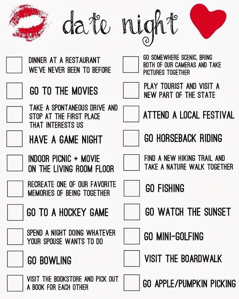 10 Fabulous Ideas For A Date Night date night printable living la vida holoka 2021