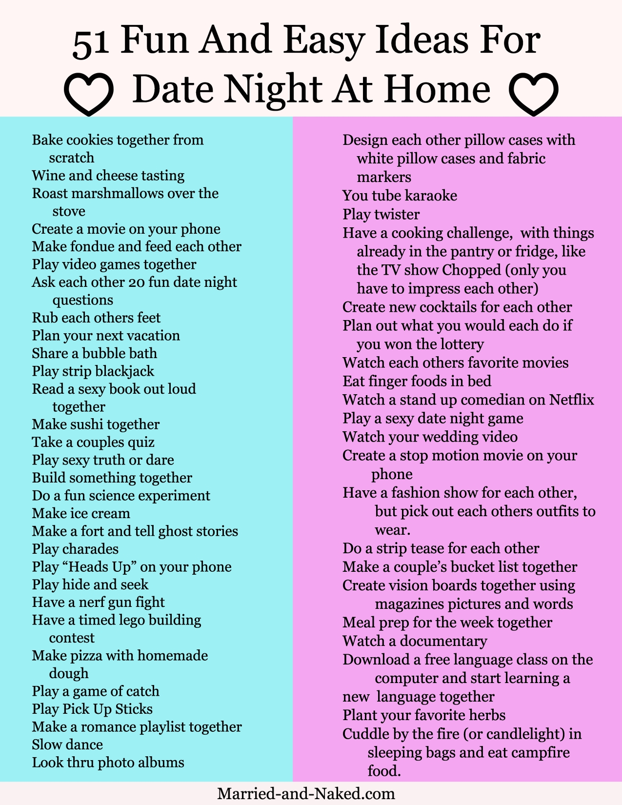 date night questions for married couples - married and naked | free