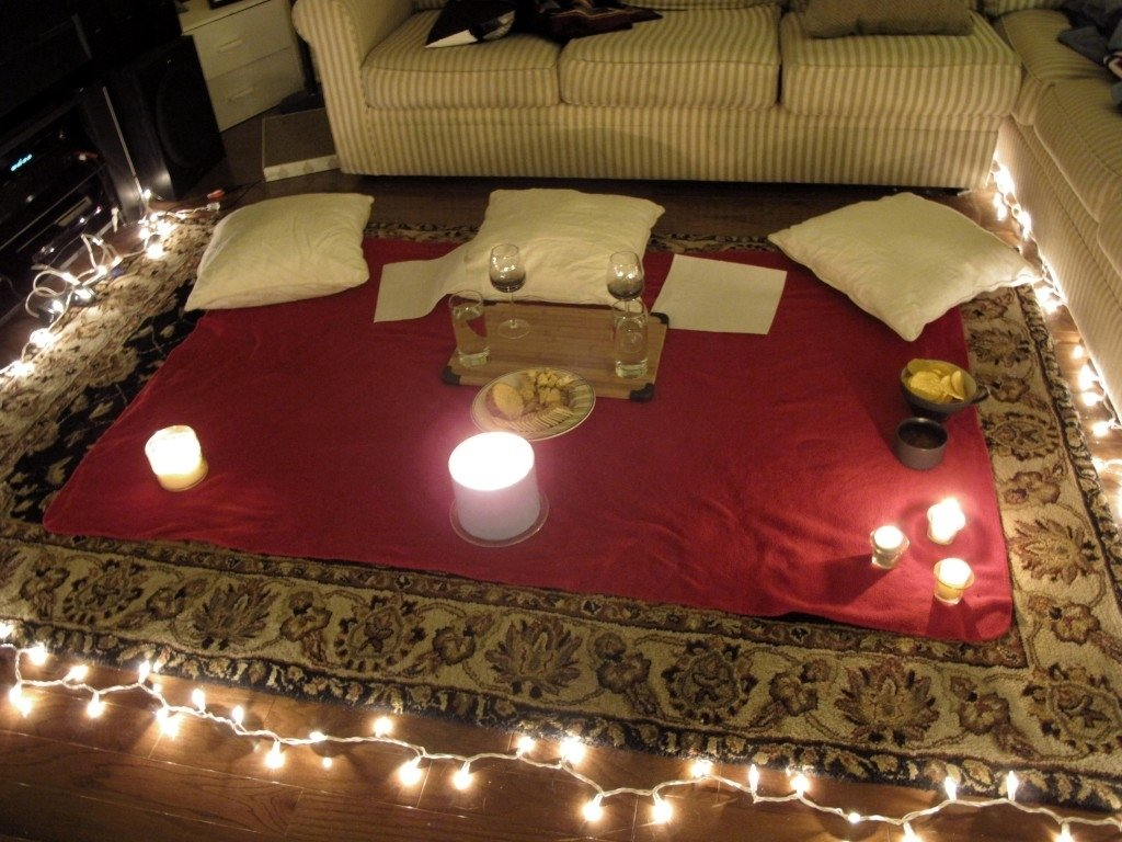10 Fabulous Romantic Night At Home Ideas dating advice for women picnics learning and indoor picnic
