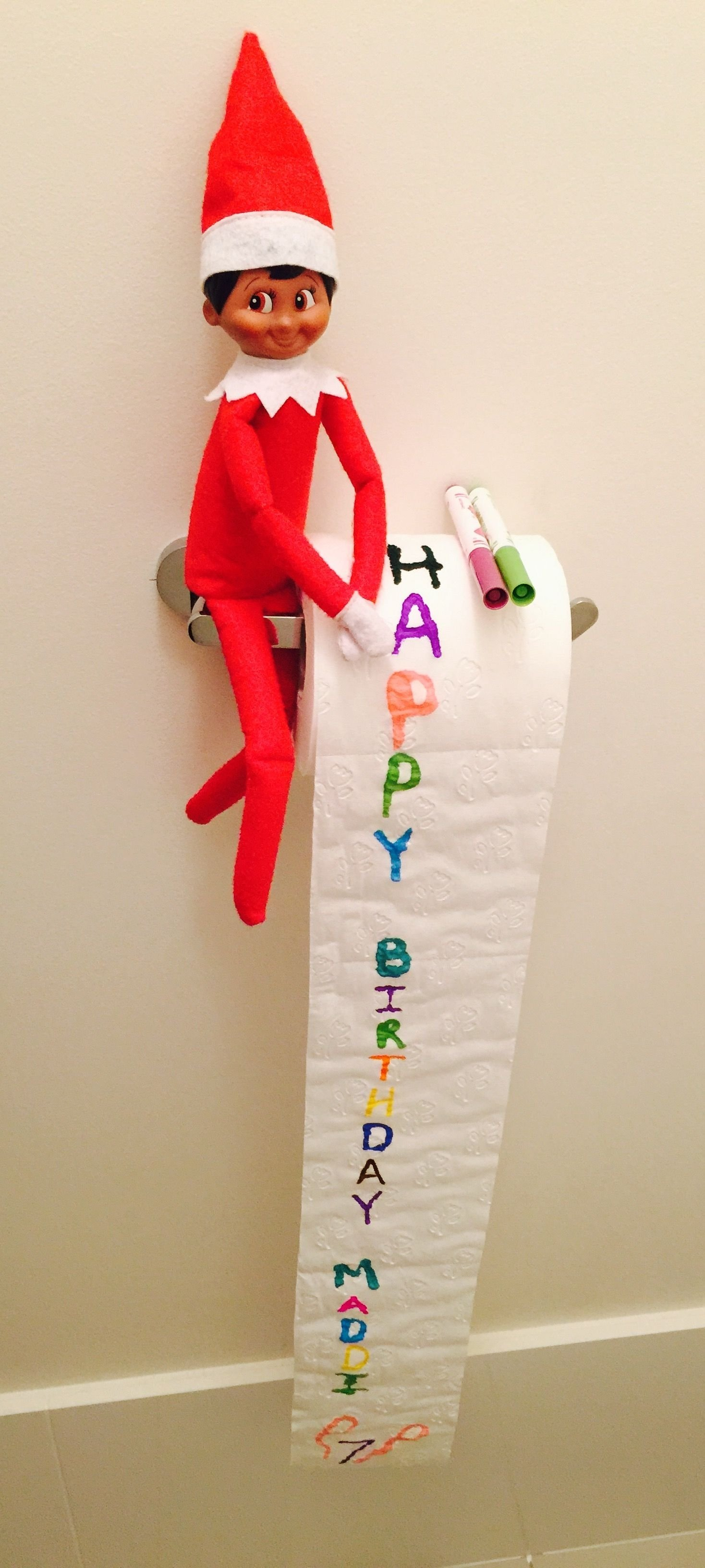10 Best Elf On The Shelf Birthday Ideas day 11 elf on the shelf jami wanted to surprise maddi and wish her