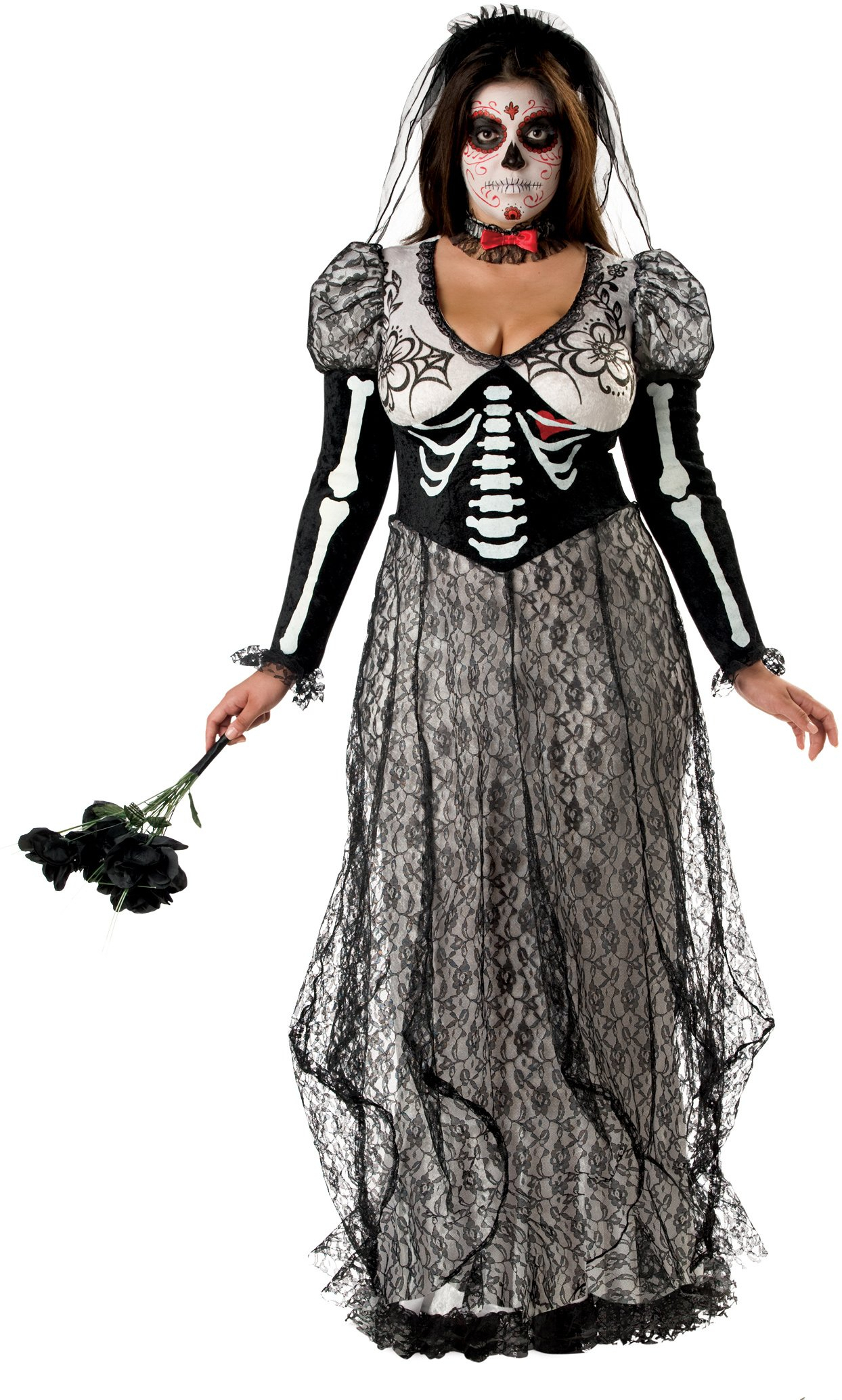 10 Fabulous Day Of The Dead Dress Ideas day of the dead bride plus adult costume horror and gothic costumes 2020