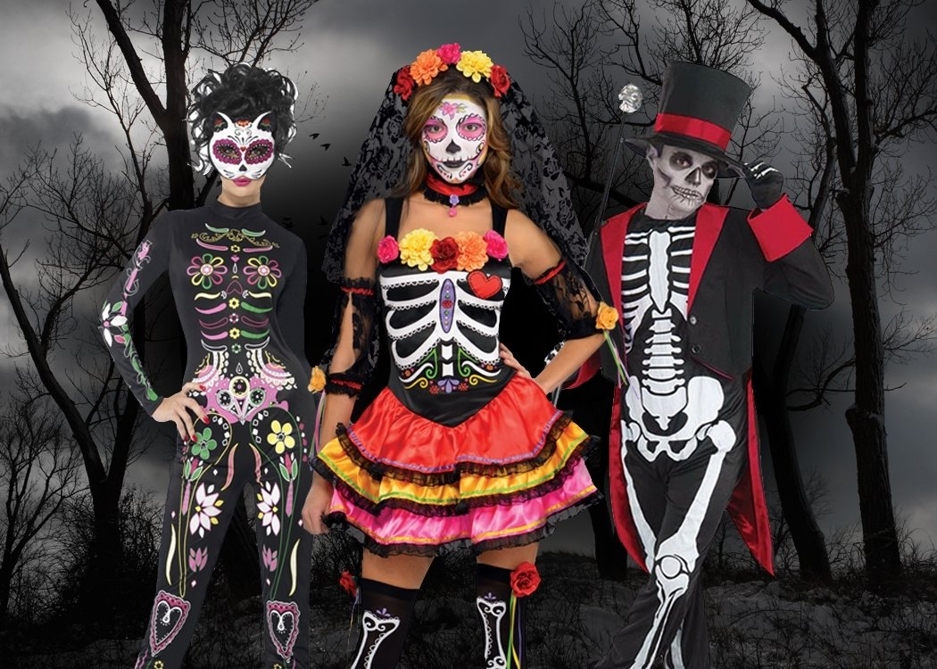 10 Great Day Of The Dead Halloween Costume Ideas day of the dead costume ideas easy makeup tutorial party 2020